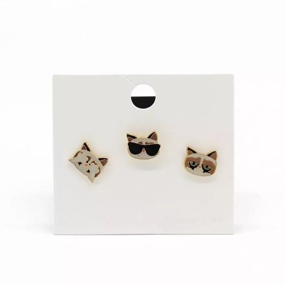 4/$25 • Cute Cat Pins Set Brooch New Boutique
